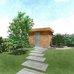 Jardins du Moulin - Aménagement abris de jardin 3D