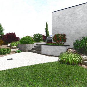 Jardins du Moulin - Aménagement devant 3D