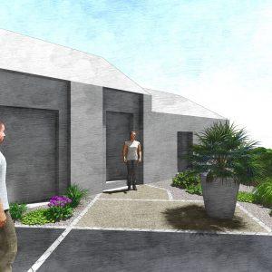 Jardins du Moulin - Aménagement entrée 3D