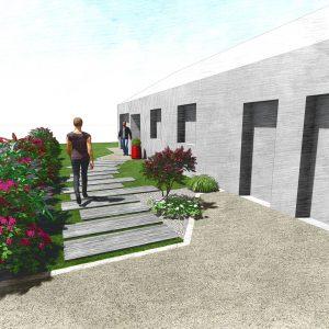 Jardins du Moulin - Aménagement entrée de maison 2 3D