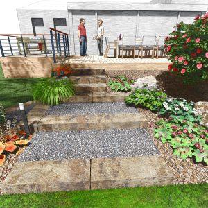 Jardins du Moulin - Aménagement jardin et terrasse 3D