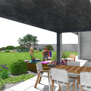 Jardins du Moulin - Aménagement jardin et terrasse et pergolas 3D