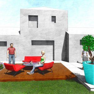 Jardins du Moulin - Terrasse 3D