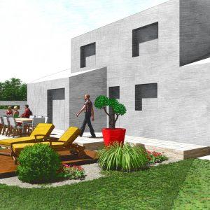 Jardins du Moulin - Terrasse bois et pierre visuel 2 3D