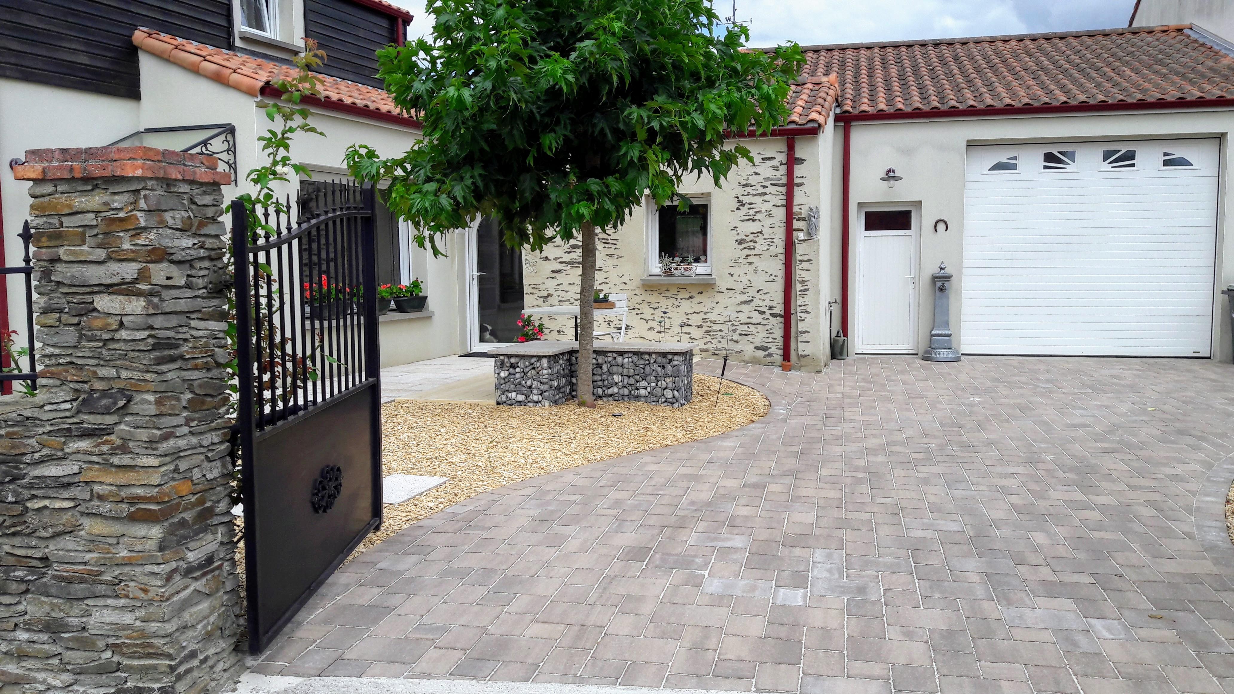 Les Jardins Du Moulin Paysagiste jardins du moulin paysagiste - allée en pavage terrasse et