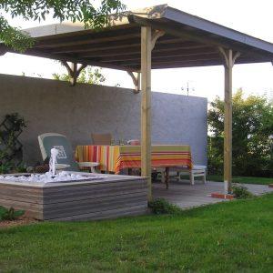 Jardins du moulin paysagiste - Pergola en bois