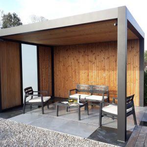 Jardins du moulin paysagiste - jardin expo terrasse ceramique et pergolas-min