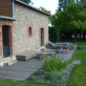 Jardins du moulin paysagiste - terrasse bois