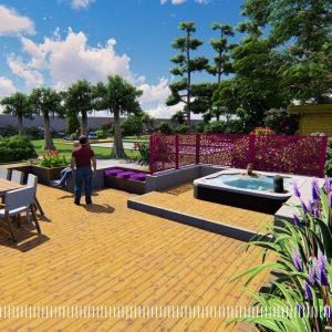 JARDINS DU MOULIN PAYSAGISTE TILLIERES - projet phase 3D7
